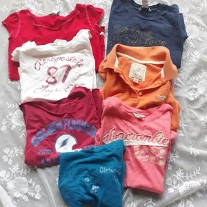Bundle Lot 7 Baby Tees Polos Hollister Abercrombie